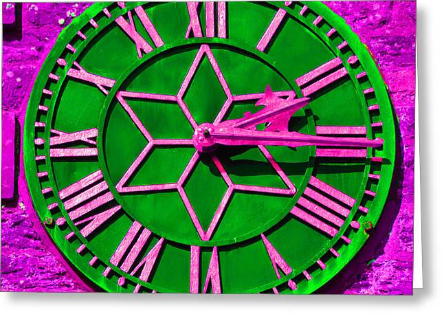 Clock On West Tower. Greeting Card
