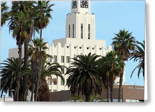 Clock Tower Building, Santa Monica Greeting Card