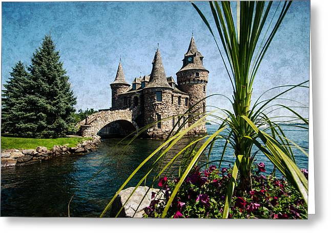 Boldt Castle Power House And Clock Tower Greeting Card