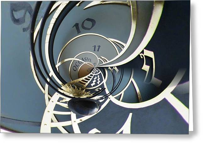 Clockface1  Greeting Card by Philip Openshaw