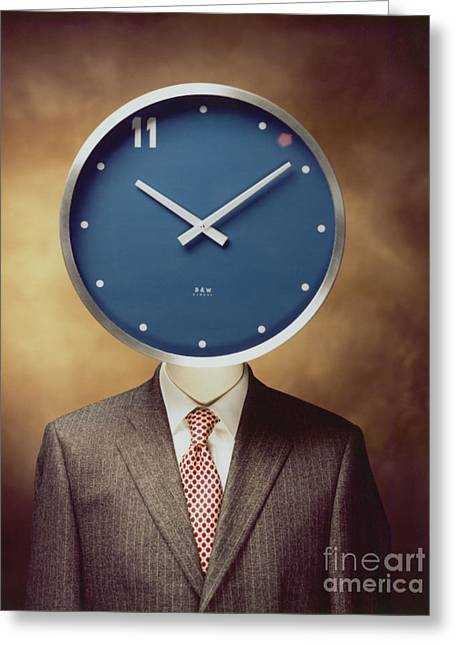Greeting Card featuring the photograph Clockhead by Hans Janssen
