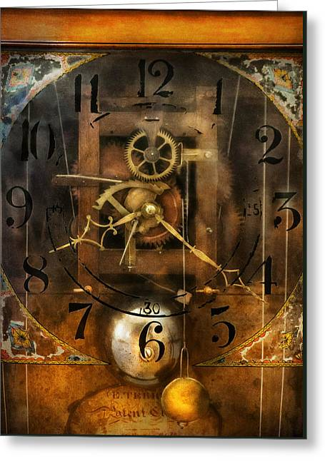 Clockmaker - A Sharp Looking Time Piece Greeting Card by Mike Savad