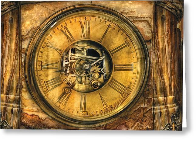 Clockmaker - Clock Works Greeting Card