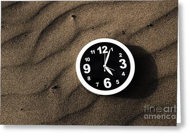 Clocks And Ripples Greeting Card