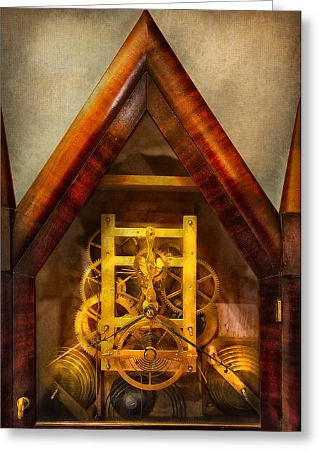 Clocksmith - Clockwork  Greeting Card by Mike Savad
