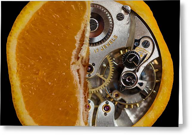 Greeting Card featuring the photograph Clockwork Orange by Brian Roscorla