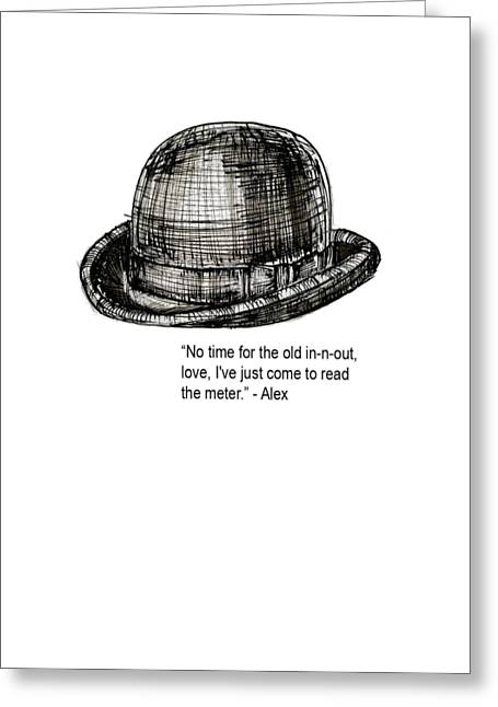 Clockwork Orange Quote Tee Greeting Card by Edward Fielding
