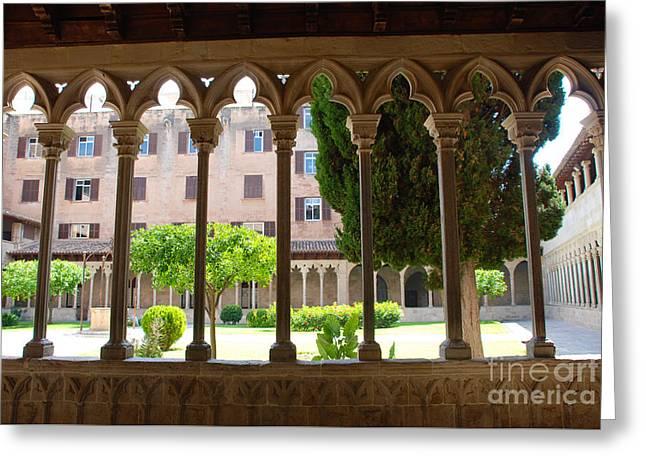 Cloister At Basilica De Sant Francesc - Palma Greeting Card