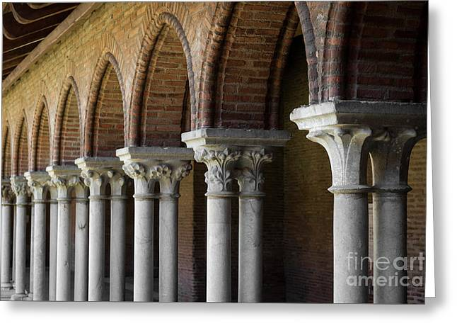 Greeting Card featuring the photograph Cloister, Couvent Des Jacobins by Elena Elisseeva