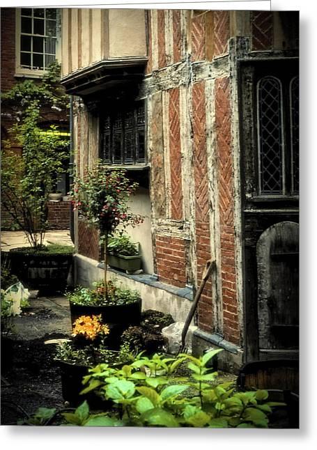 Cloister Garden - Cirencester, England Greeting Card