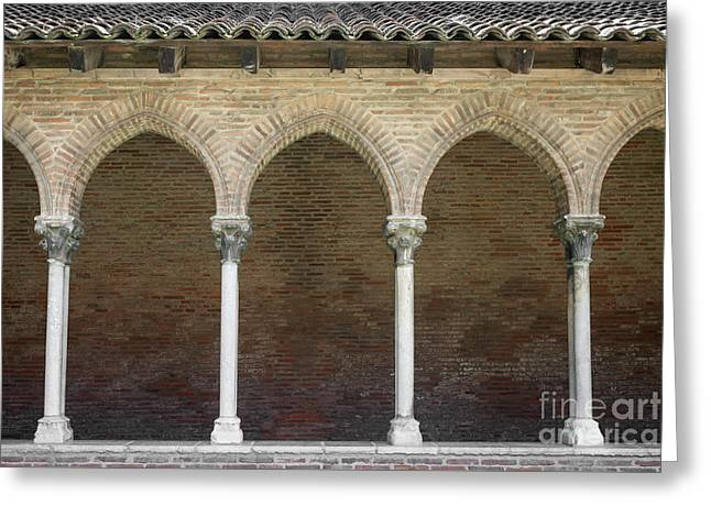 Greeting Card featuring the photograph Cloister In Couvent Des Jacobins by Elena Elisseeva