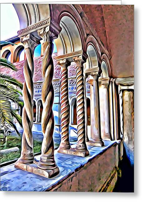 Cloisters Of St. Johns Lantern In Rome Greeting Card