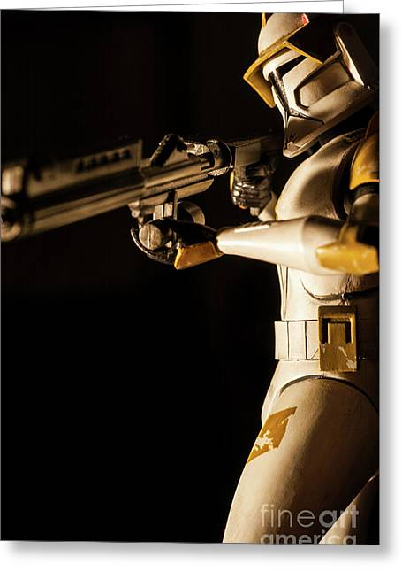 Greeting Card featuring the photograph Clone Trooper 6  by Micah May