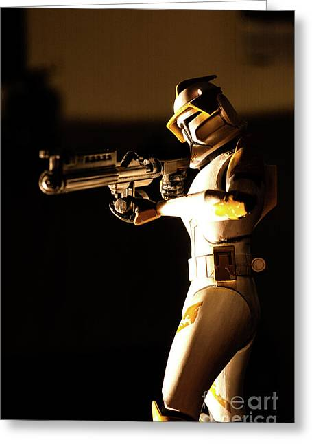 Greeting Card featuring the photograph Clone Trooper 7 by Micah May