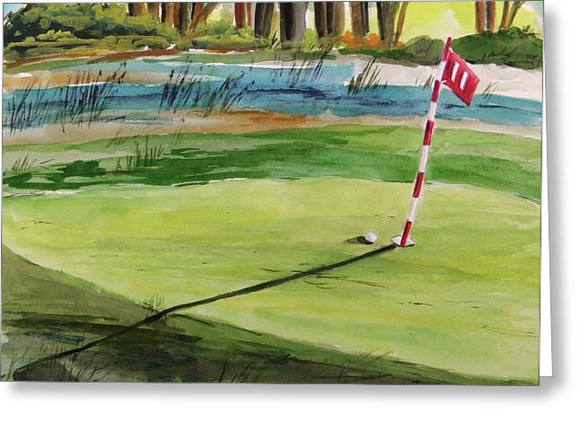 Close At The Eleventh Hole Greeting Card by John Williams