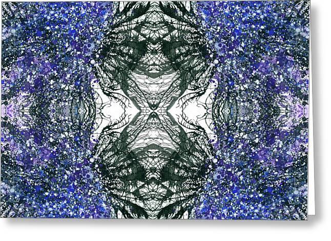 Close Encounter With The Inner Dimension #1469 Greeting Card by Rainbow Artist Orlando L aka Kevin Orlando Lau