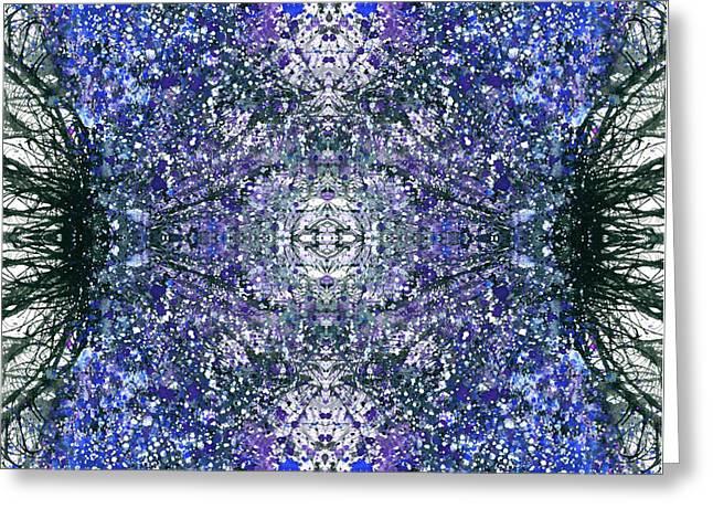 Close Encounter With The Inner Dimension #1475 Greeting Card by Rainbow Artist Orlando L aka Kevin Orlando Lau
