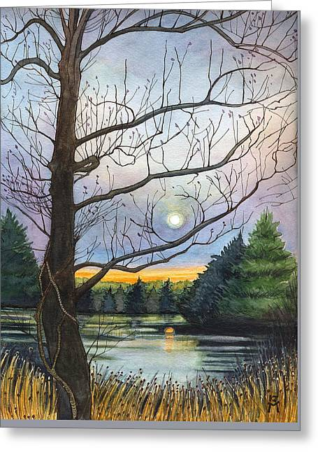 Close To Dusk Greeting Card