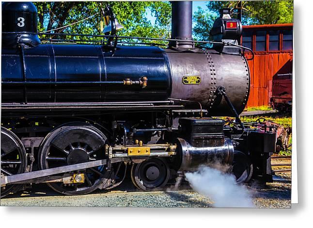 Close Up No 3 Steam Train Greeting Card