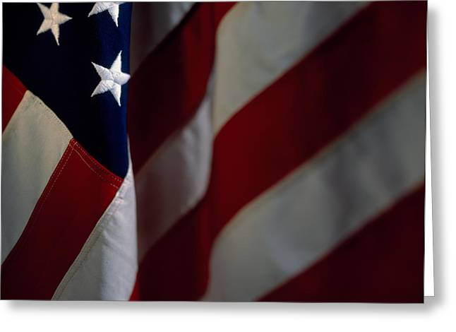 Close-up Of An American Flag, Usa Greeting Card