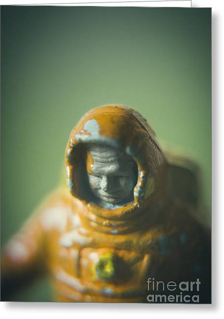 Close-up Of Astronaut #2 Greeting Card
