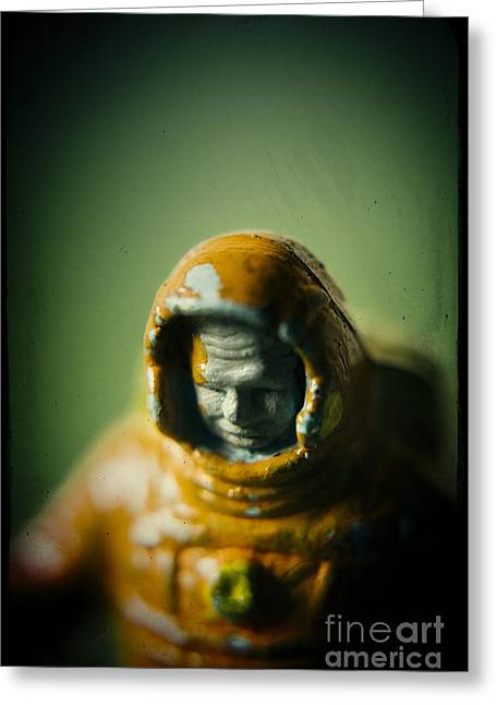 Close-up Of Astronaut #4 Greeting Card by A Cappellari