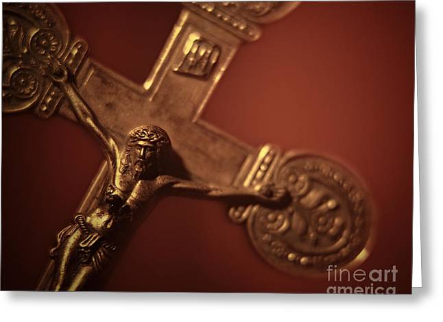 Religion Greeting Cards - Close-up of Crucifix #2 Greeting Card by A Cappellari