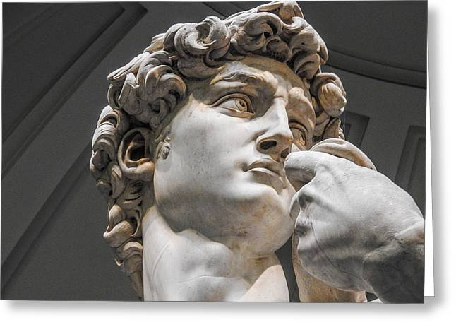 Close Up Of David By Michelangelo Greeting Card