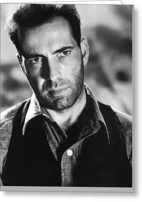 Close-up Of Humphrey Bogart As  Gangster Killer Duke Mantee The Petrified Forest 1936 Greeting Card by David Lee Guss
