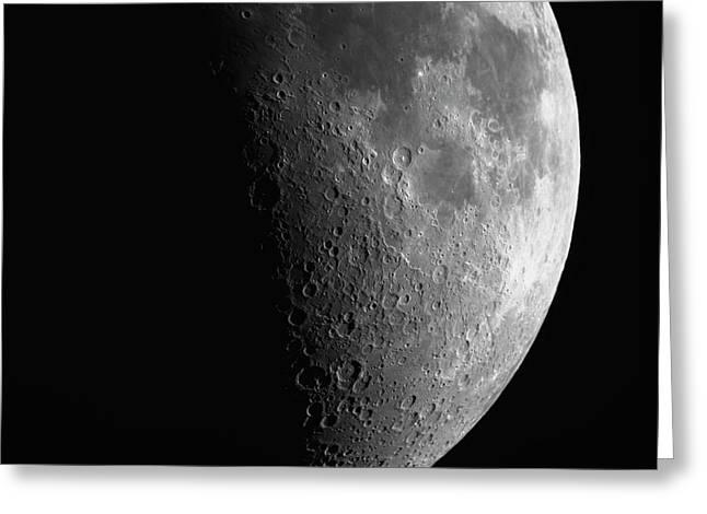 Close-up Of Moon Greeting Card