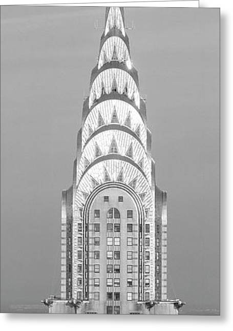 Close Up Of The Chrysler Building At Sunset. It Is The View From 42nd Street And 5th Avenue. Greeting Card by Panoramic Images
