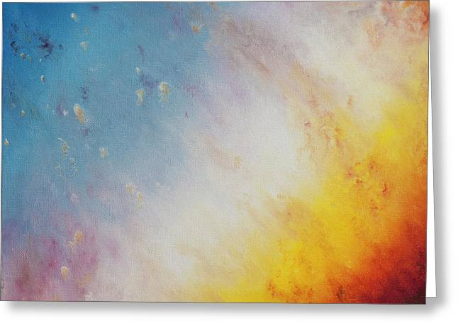 Close Up Of The Helix Nebula - Triptyc Panel 1 Greeting Card by Noemie Sierra