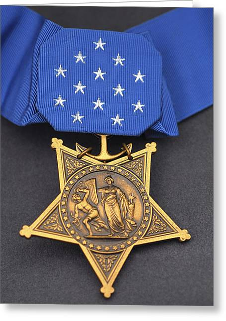 Close-up Of The Medal Of Honor Award Greeting Card by Stocktrek Images
