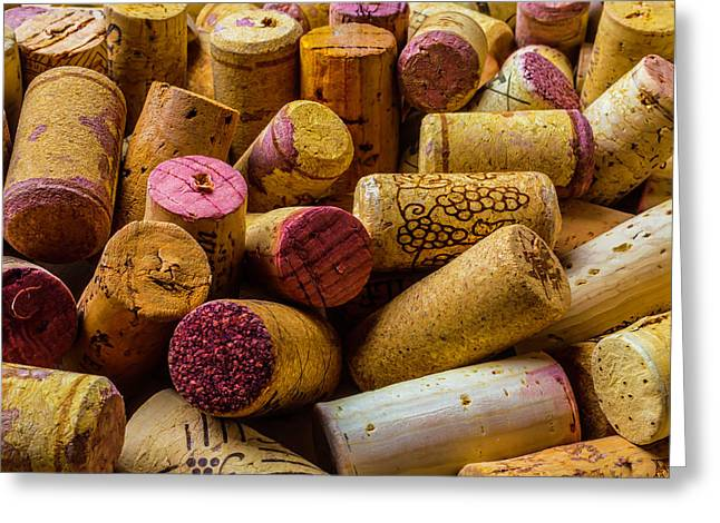 Close Up Wine Corks Greeting Card