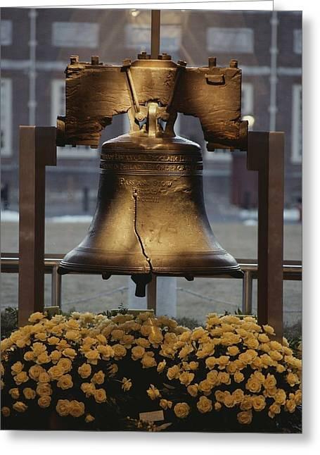Close View Of The Liberty Bell Greeting Card