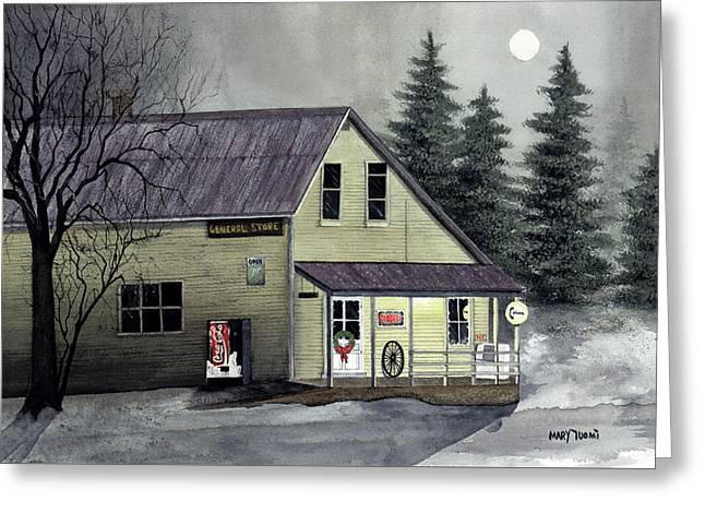 Closed For Christmas Greeting Card by Mary Tuomi