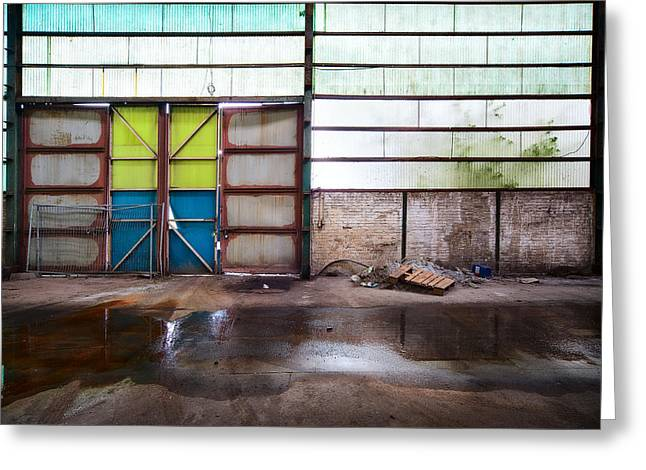 Closed Gate - Urban Exploration Greeting Card by Dirk Ercken
