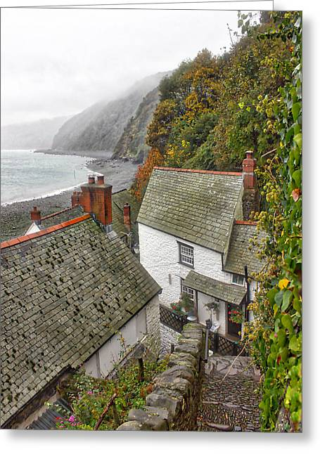 Clovelly Coastline Greeting Card by RKAB Works