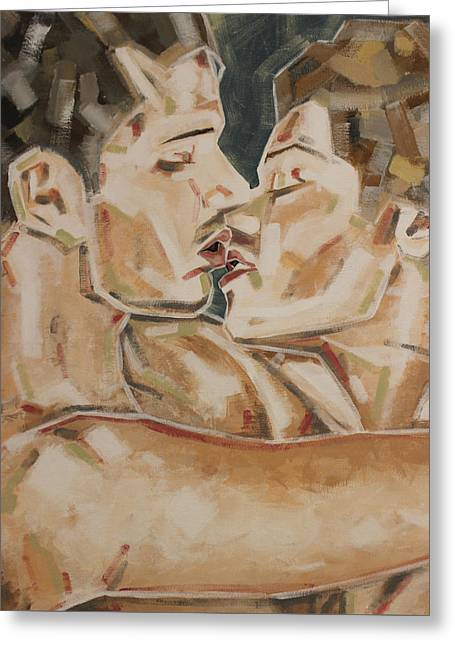 Closer Greeting Card by KM Male Nudes