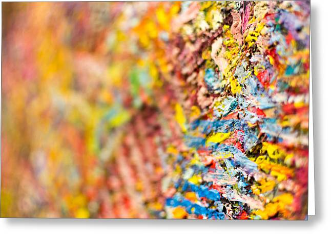 Closeup Of Abstract Art Brush Strokes Greeting Card by John Williams