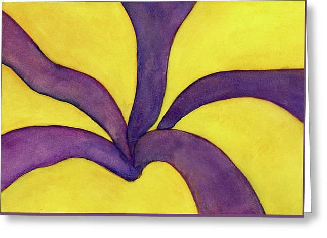 Closeup Of Yellow Rose Greeting Card by Versel Reid