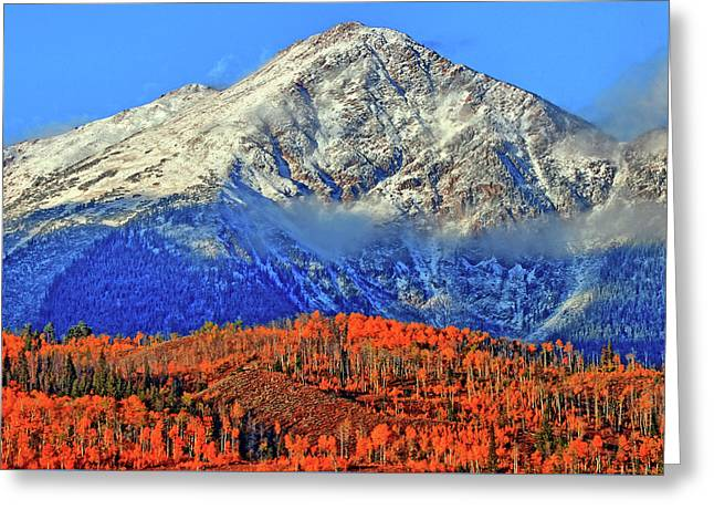 Greeting Card featuring the photograph Closing In On Fall by Scott Mahon