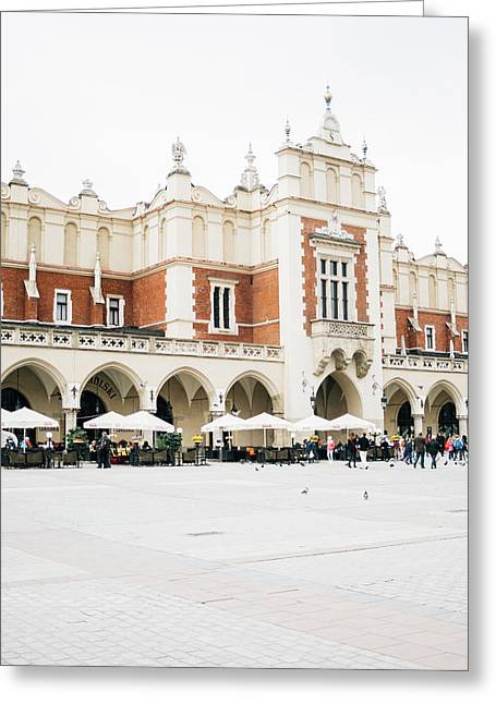 Cloth Hall Krakow Greeting Card by Pati Photography