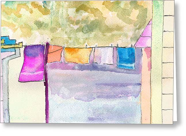 Clothes On The Line Greeting Card
