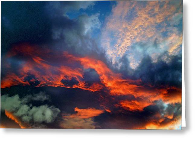 Sunset Abstract Greeting Cards - Cloud Abstract 1 Greeting Card by Michael Durst