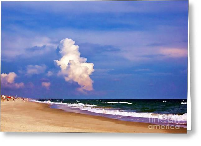 Greeting Card featuring the photograph Cloud Approaching by Roberta Byram