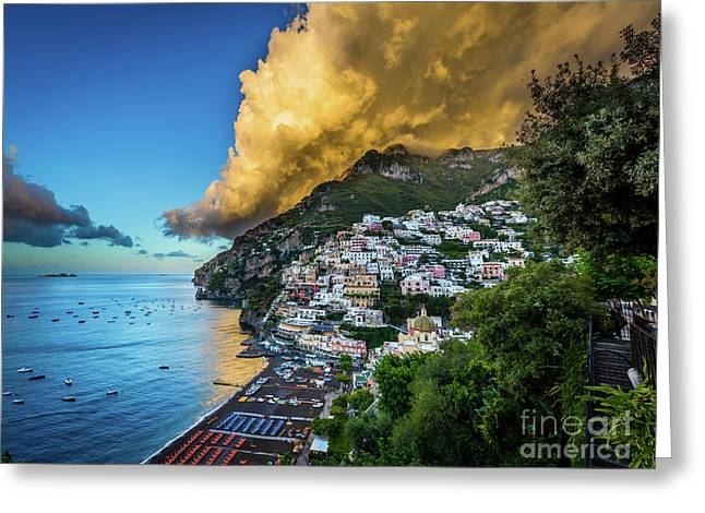 Cloud Avalanche Greeting Card by Inge Johnsson