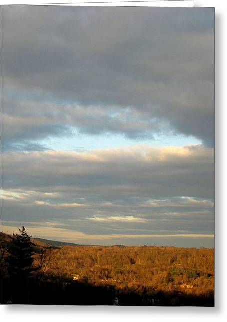 Cloud Break Greeting Card by Marcia Crispino