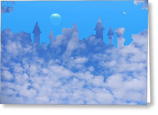 Cloud Castle Greeting Card by Mark Blauhoefer