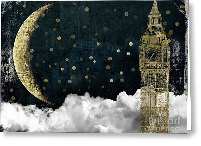 Cloud Cities London Greeting Card by Mindy Sommers